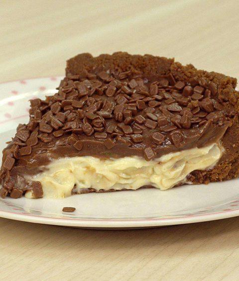 Torta de Trufa de Limão com Brigadeiro de Chocolate