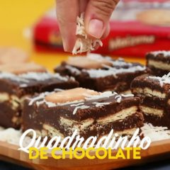 Com esse quadradinho de chocolate não dá pra resistir. Você vai fazer essa receita...