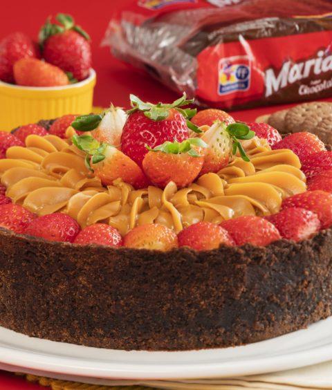 Torta de Morango com Doce de Leite